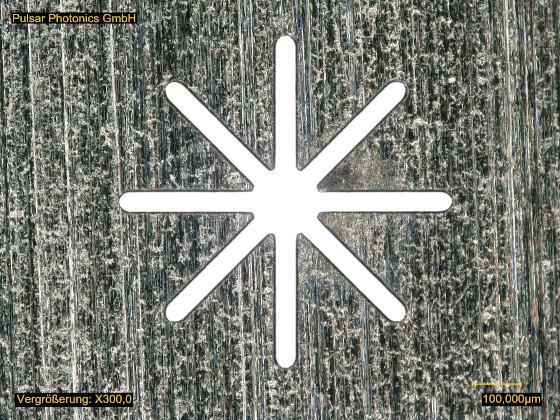 Lasergebohrte Spinndüse